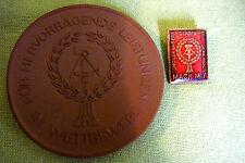 Meissen DDR Medaille & Abzeichen - Mach Mit - im Etui