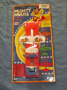 VINTAGE TOY 1981 MIGHTY MOUSE STUNT PLANE SEALED IN ORIGINAL PACKAGE