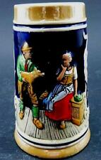 Chope à Bière en Grès émaillé décor polychrome, mi-20ème