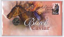 2013 UNC $1 BLACK CAVIAR COIN & STAMP PNC