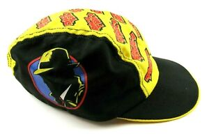 Dick Tracy Hat Disney EC Comic Fitted Biking Baseball Cap Rare Vintage 90s