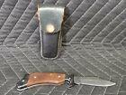Vtg Japanese Folding Knife w Belt Case