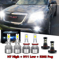 For GMC Acadia 2007 2008 2009 2010 2011 2012 -6X 6000K LED Headlight + Fog Light