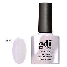 GDI Nails Nude Pastel Colours Range UV LED Soak off GEL Varnish Nail Polish U6 Lavender Daze