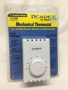 Cadet by Honeywell Mechanical Double Pole Thermostat T410B New Sealed