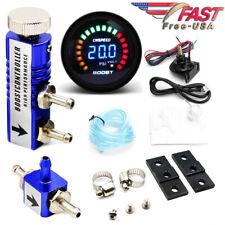 0-30 Psi Manual Boost Controller Kit Blue w/ 52mm Electronic Digital Boost Gauge