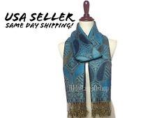 NEW Women's Pashmina Scarf Paisley Print Shawl Wrap Silky Elegant Indian Stole
