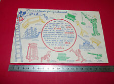 BUVARD ALSA ENTREMETS FLAN CREME ODOR JEU DE CONSTRUCTION   1950-1960