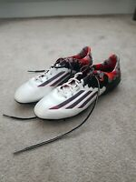 Adidas Messi 10.1 AG Pibe De Barr10 Football Boots  White Granite Scarlet Size 9