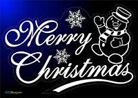 CHRISTMAS STICKER SNOWFLAKES SNOWMAN HOME SHOP WINDOW DECORATION REUSABLE GIFT +