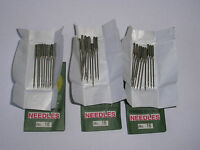 30 SEWING MACHINE NEEDLES 100/16 FITS TOYOTA BROTHER JANOME SINGER ELNA SILVER +