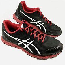 Men's Asics Gel-Flash Running Shoes Black red Sz 13 GUC