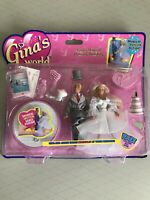 Gina's World, Vintage Gina's Magical Dancing Wedding Mini Doll Set By Vivid 1997
