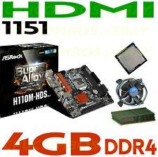 COMBO Intel i7-6700K CPU+4GB RAM+ASRock HDMI SATA6 USB 3.0 LGA 1155 Motherboard