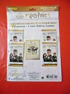 Panini Harry Potter 4 pochettes + 1 Carte Édition Limitée (RARE) s/blister!!!