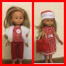Vetement de poupée compatible les chéries corolle ou  poupee 32/33 cm rouge.blan