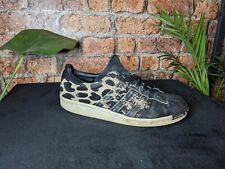 New listing Adidas Originals Superstars 80s Trainers Rare Leopard Print Black UK Size 7
