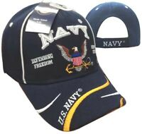 NEW! US NAVY USN DEFENDING FREEDOM SINCE 1775 BALL CAP HAT NAVY