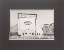 Sky-Way Drive-In Movie Theatre, Millcreek PA 1950 Vintage Photo Matted Print