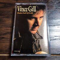 Vince Gill 'Pocket Full of Gold' Cassette (1991, MCA) * Vintage!