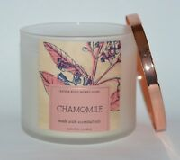 BATH & BODY WORKS CHAMOMILE SCENTED CANDLE 3 WICK 14.5 OZ LARGE ESSENTIAL OILS
