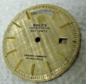 Vintage Rolex Oyster Perpetual Day Date 1803 Pie Pan Men's Textured Watch Dial