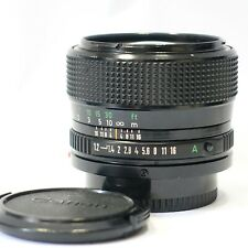 Canon FD 50mm 1:1.2 (f/1.2) ultra fast prime lens, fits FD Camera mount