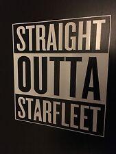 Straight OUTTA Star Fleet Vinyl Sticker