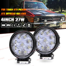 2x 27W FLOOD Round LED Work Light Offroad Fog Driving SUV ATV Truck 4WD UTE 12V