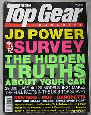 Top Gear 05/1998 featuring Mazda MX-5, MGF, Fiat Barchetta, Ferrari, Porsche