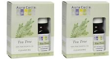2 Pack - Aura Cacia - Tea Tree Cleansing Essential Oil - 0.5 Fl Oz Box