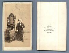 George Washington Morrison Nutt, nommé Commodore Nutt sur scène vintage carte de