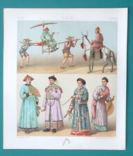 CHINA Costume Fashion Lady Mandarin Court Official - COLOR Print A. Racinet
