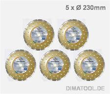 5x 230mm Cedima Beton Gold Star Diamanttrennscheibe Beton Naturstein