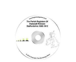 The Parish Registers Of Hamstall Ridware Staffordshire 1598-1812