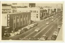 c1940s Wenatchee Washington downtown Real Photo Sears, Owl Drug, N B of C, Kress