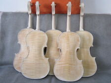 3pcs unfinished violin 4/4 flame maple back Russian spruce violin parts
