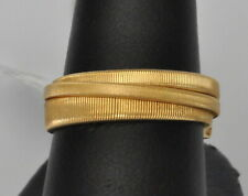 Marco Bicego Triple Row Overlap Ring 18K Yellow Gold Masai New $1490 SALE
