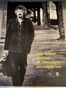 """Bap / Wolfgang Niedecken seltene Werbeanzeige aus der Zeitschrift """"Musikmarkt"""""""