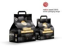 Kohle Manufaktur Premium Grillbriketts Grill Brikett bis zu 4,5 Std 2,5 kg
