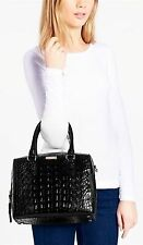 KateSpadeRialto Place Alessa Croco-embossed Leather Satchel Bag NWT $458 BLACK