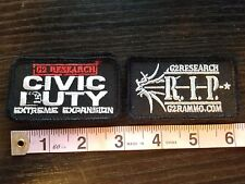 """New Lot of 2 G2 Research Patches With Hook & Loop Backing Size 3"""" x 1.75"""""""