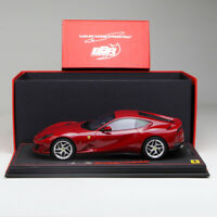 BBR 1:18 Scale Ferrari 812 Superfast Rosso Crossa Red Car Model Limited in New