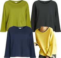 NEW! SEASALT Easy Fit Breathable Cotton SKYLIGHT Sweatshirt Top Jumper 4 Colours