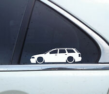 2x Lowered car outline stickers - for Audi A4 (B5) S4 Avant station wagon | RS4