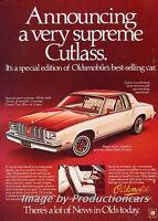 1978 Oldsmobile Cutlass Supreme Original Advertisement Print Art Car Ad J744