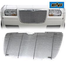 Polished Front Aluminum Billet Grille Grill Insert for 05-10 Chrysler 300 300C