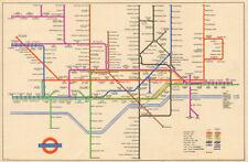 LONDON UNDERGROUND tube map plan. Alexandra Palace. South Acton. HARRY BECK 1949