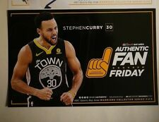 Golden State Warriors Stephen Curry Authentic Fan Poster