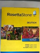 Rosetta Stone V4 TOTALe: German Level 1-3 Set PC MAC NEW!